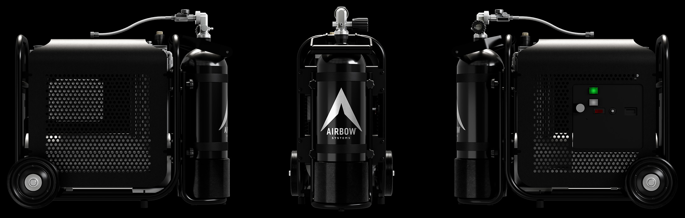 Airbow Compressor from different angles
