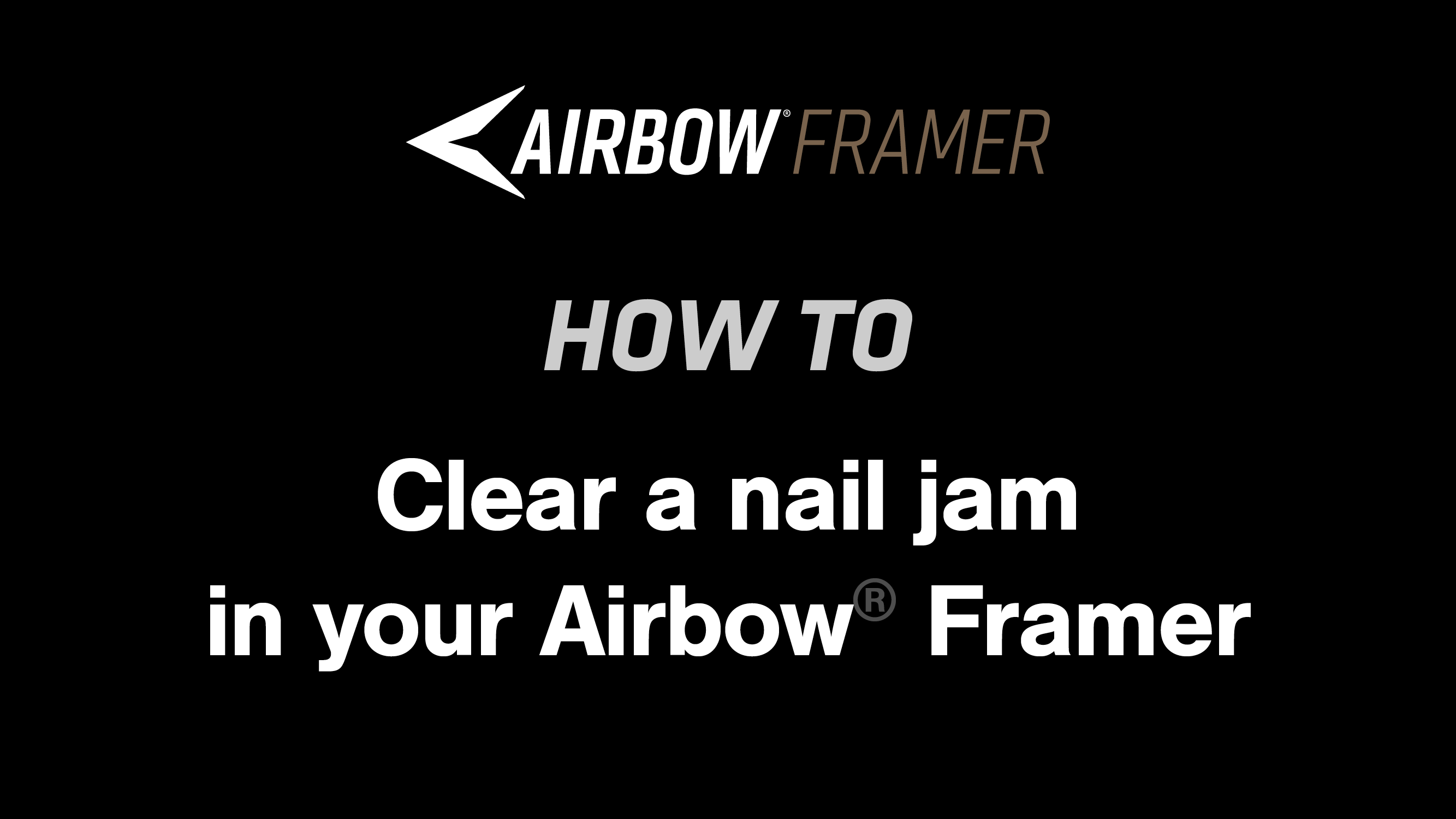 How to: Clear a nail jam