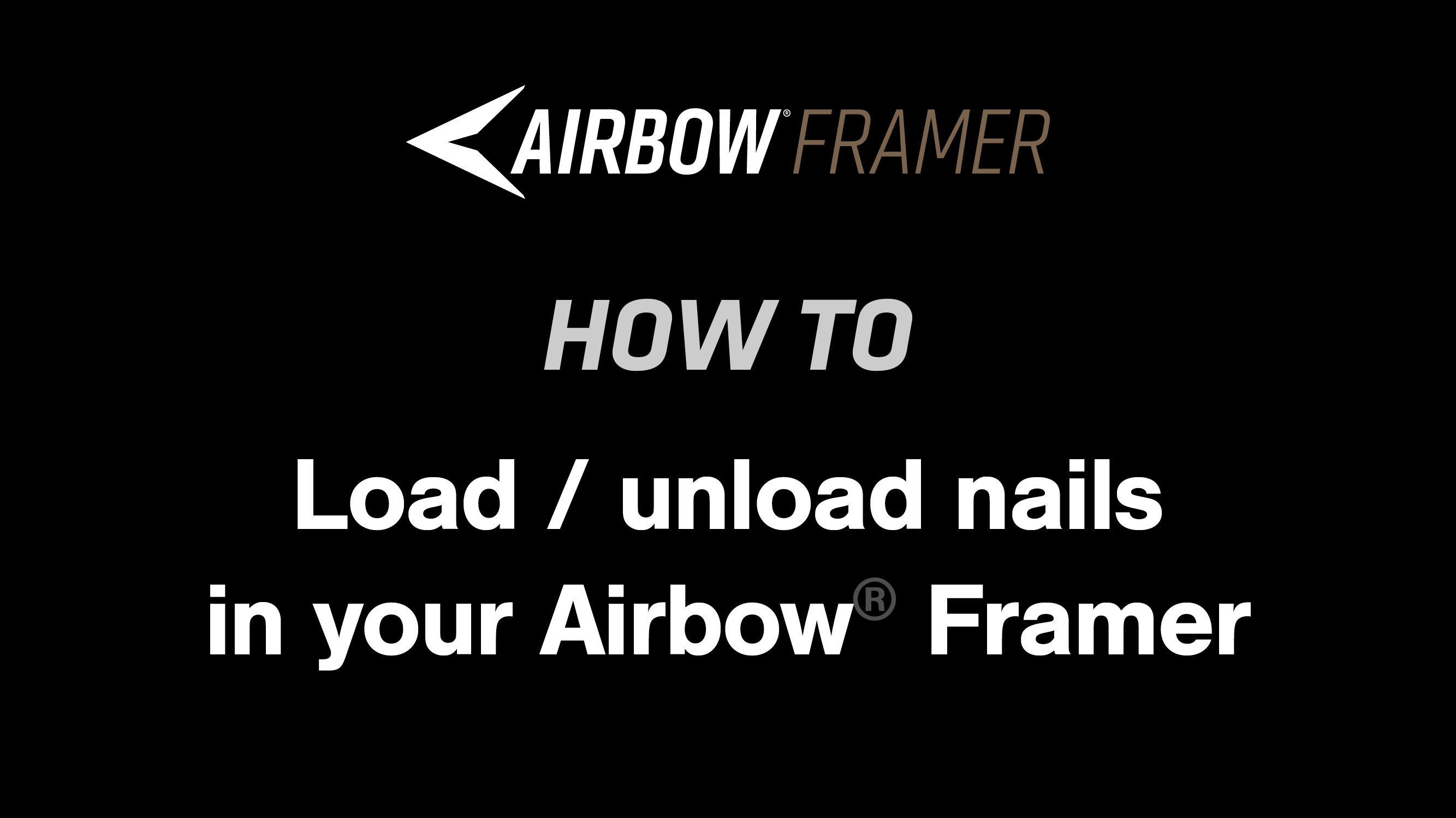 How to: Load and unload nails