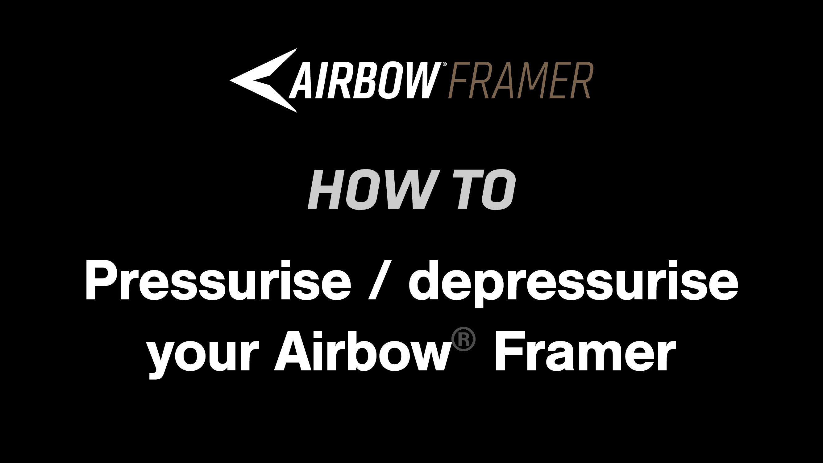 How to: Pressurise and depressurise